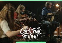 Mairéad Ní Mhaonaigh, Manus Lunny and Nia Ní Bheirn at Cork Folk Festival